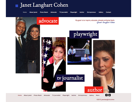 janet langhart cohen website design